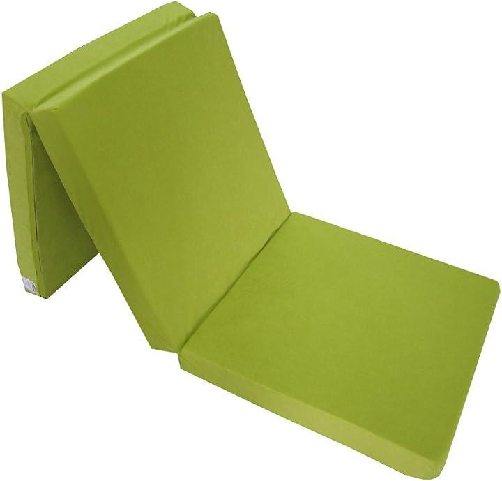 Materasso pieghevole emergenza 195 x 65 x 8 cm (verde chiaro 1229) 0821229