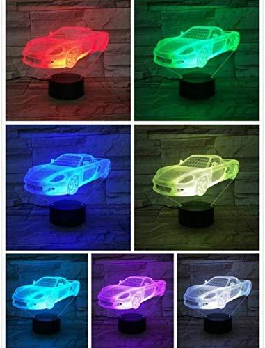 Super Sports Auto Nachtlampje Led 3D Illusie Hologram Kinderen Gift Gadget Bureau Lamp Slaapkamer Decor