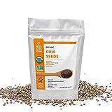 Super Good For You Foods USDA Certified Organic, Protein rich, Antioxidant Chia Seeds | Gluten-Free, Non-GMO, Vegan, No Sugar Added, Kosher, 8 oz
