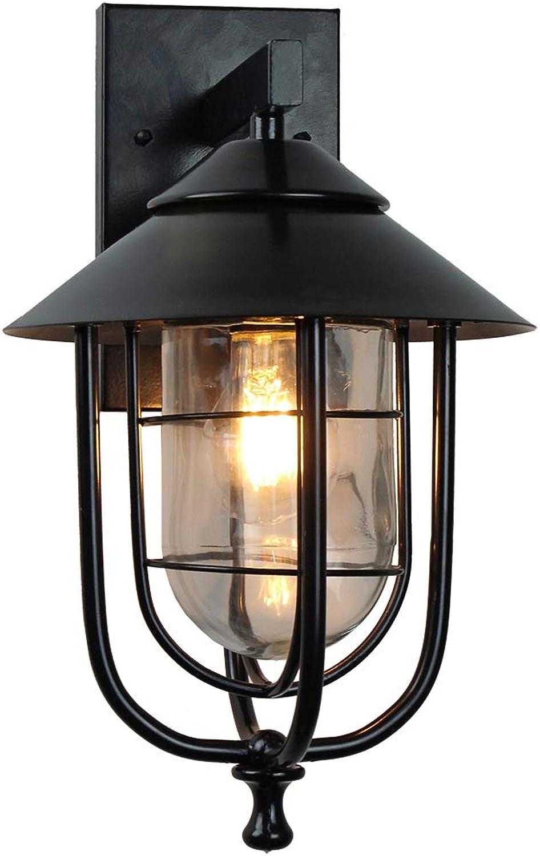 JAY-LONG LED Eisen Kunst Wandlampe, wasserdichte Gartenlampe, Dekoration Beleuchtung, Geeignet Für Villa Balkon Korridor, 110-240V, 37,5  21Cm, Warmes Licht