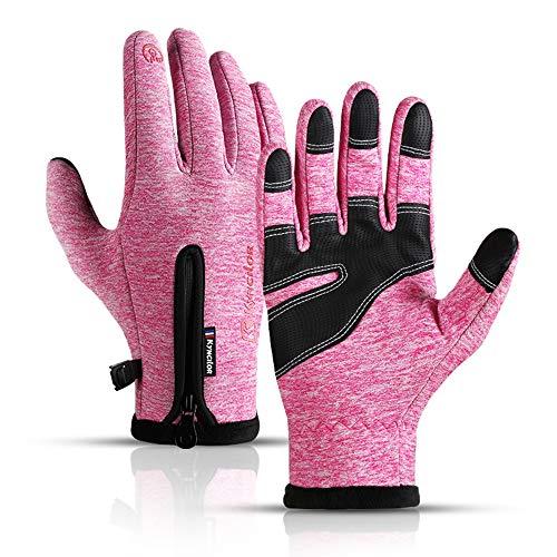 Kyncilor Guanti da sci caldi da uomo, guanti sportivi antivento e impermeabili, guanti MTB antiscivolo, guanti da ciclismo con funzione touchscreen, guanti invernali per uomo e donna