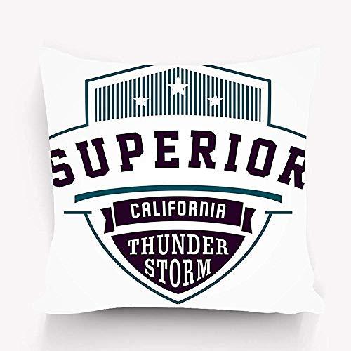 Saibing - Funda de almohada decorativa para sofá, dormitorio, coche, decoración del hogar, 45 x 45 cm, diseño gráfico de California superior