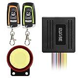 Rupse Motorrad Alarmanlage mit Motorstart 2 Funkfernbedienung für alle Roller Moped oder Quad mit...