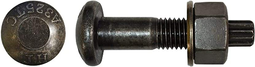 7/8 inch X 3 inch A325 TC Bolt Assembly with A563 DH Heavy Hex Nut & F436 Washer (Quantity: 170) Plain Steel, Coarse Thread, 7/8-9 x 3