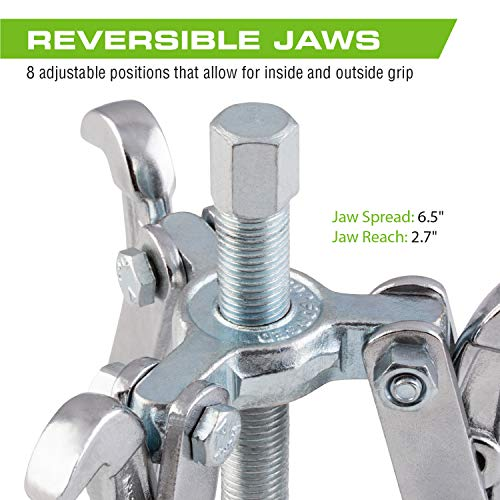 Arcan Hardened 4-Inch Gear Puller with Reversible Jaws (AS4GP)