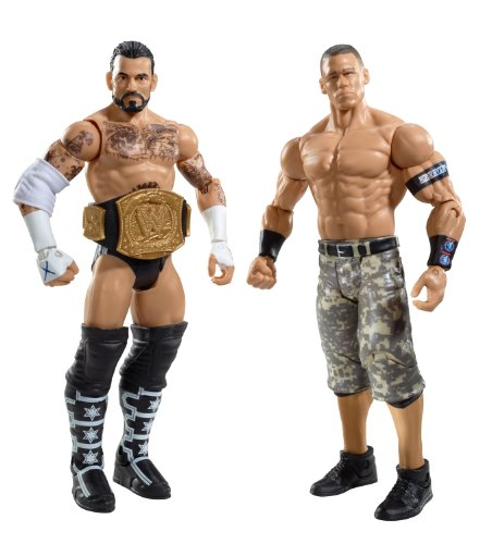 WWE CM Punk vs John Cena Battlepack Figures