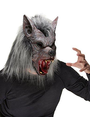 Vegaoo - Máscara de Hombre Lobo para Adulto Ideal para Halloween - Única