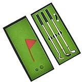 keenso mini set di penne da golf, regalo da golf da tavolo, penna per mazza da golf, regali di novità per il golf, regalo di souvenir da golf con mini penna a sfera, confezione regalo per golfisti