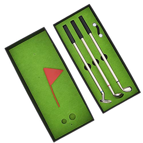Aoutecen Bolígrafo de Golf de Escritorio Juego de Juguetes Recuerdo de Golf Resistente al Desgaste Ligero Práctico para Golfista