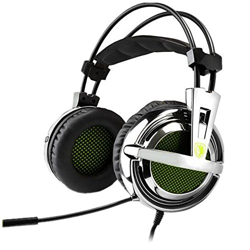 Sades SA-928 Professional Gaming Headphones Headset Over Ear Headband with High Sensitivity Microphone Volume Control for PC Laptop PS3 Xbox360