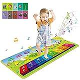 RenFox Alfombra Musical de Piano, Alfombra Musical 7 Instrumentos Suenan Alfombra 4 Modos,...