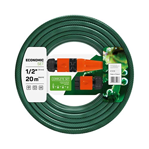 Cellfast 10-100V Tubo da Giardino, Verde (Green), Diametro 12mm (1/2'), Lunghezza 20m