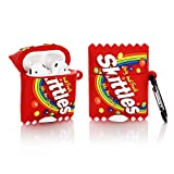 YLFYSF Airpods Silicone Case 3D Cartoon Funny Cute Cover Compatible for Apple Airpods 1&2 [Snacks Series 2] (Skittles)