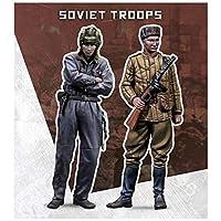 スケール75 SW72-008 1/72 ソビエト兵セット-Soviet troops (2体)