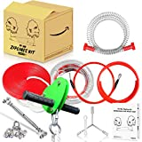 Hi-Na 80ft 100ft 120ft Zipline Kits for Backyard with Brake Zipline with Trolley Zipline for Backyard for Kids Backyard Zipline Kit with Seat Zipline Kit Zipline Kits for Backyard 120ft Zip Line Kit