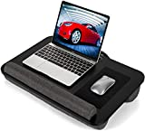 AMERIERGO Lap Desk - Fits Up to 17 Inch Laptop Lap Desk with Dual Cushion, Wrist Rest & Built-in...