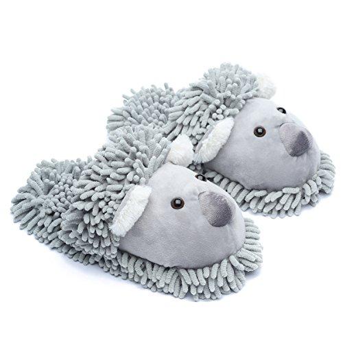 ofoot Frauen/M?nner Winter Fuzzy Zuhause Hausschuhe, s¨¹?e Tier Koala/Fox/owl/Schwarze Katze.
