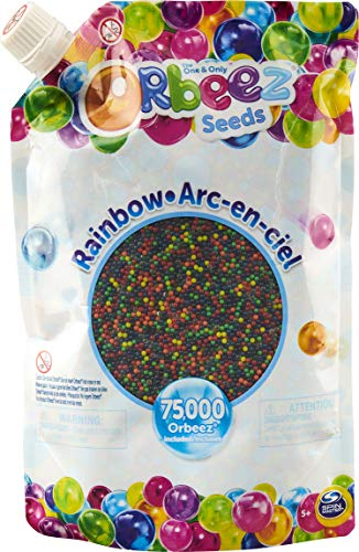 Orbeez, The One and Only, 75,000 Non-Toxic Rainbow Water Beads, Sensory Toy for Kids Aged 5 and up