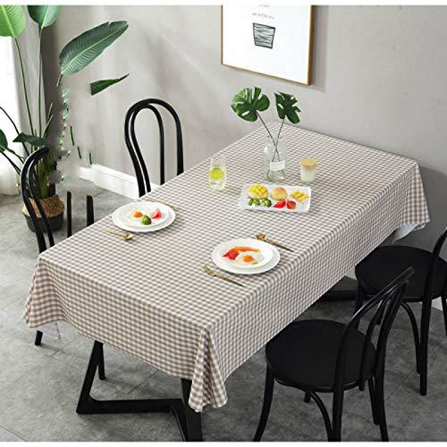 YOUYUANF Mantel Mantel Rectangular Mesa de Comedor Mantel doméstico Moderno, PVC Puede Limpiar fácilmente Mantel Rectangular de Vinilo de plástico 90x150cm
