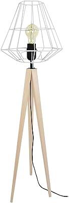 Tosel 51298 Lampadaire 1 Lumière, Bois, E27, 40 W, Marron, 30 x 150 cm