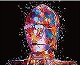 XFWED - Dipinto con numeri senza cornice, per danza aerea, dipinto a mano, creativo, dipinto a olio digitale, con il numero 40 x 50 cm
