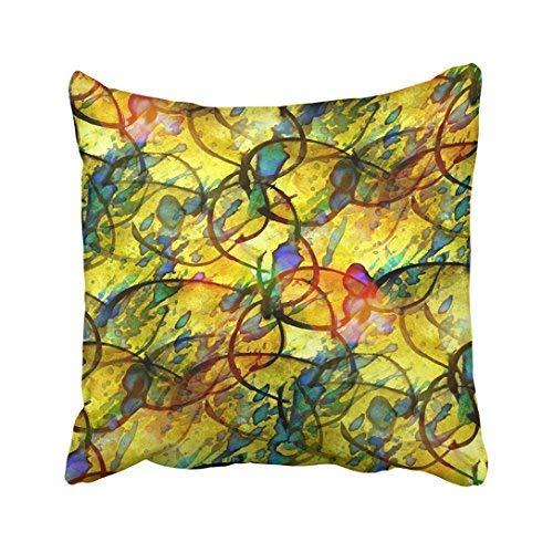 Funda de almohada de 16 x 16 x 16 colores Picasso luz del sol azul amarillo acuarela vintage abstracta retro artística borde de algodón fundas de cojín decorativas cuadradas para sofá o hogar accesorios regalos 20 x 30 cm
