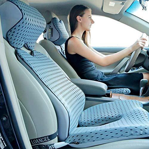 Auto-Sitzkissen Sitzerhöhung Sitzerhöhung Sitzerhöhung Sitzerhöhung in einem Stück schönes Polyester-Mesh Kissen Autositzkissen Lightgray