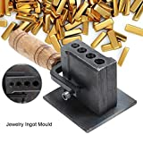 Molde de lingote, placa de alambre reversible Molde de lingote ajustable para fundición Refinación Oro Plata Cobre...