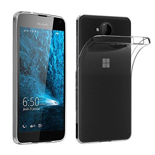 ebestStar - kompatibel mit Microsoft Lumia 650 Hülle Handyhülle [Ultra Dünn], Premium Durchsichtige Klar TPU Schutzhülle, Soft Flex Silikon, Transparent [Lumia 650: 142 x 70.9 x 6.9mm, 5.0'']