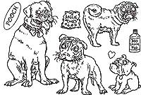 犬の透明なクリアシリコンスタンプ/DIYスクラップブッキング/フォトアルバム用シール装飾的なクリアスタンプシートB074