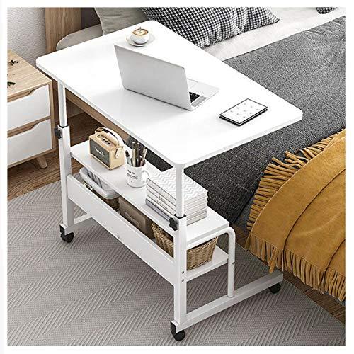 LYLSXY Mesa de sofá Mesa portátil con Ruedas Mesa para portátil para portátil Mesa de Centro para el hogar, revistas y Otros artículos (Color : White)