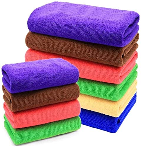 YJLGRYF Geschirrtuch Reinigungsbedarf Küchen Rags.Handtücher.Geschirrtücher.Abwischen Tabelle.Fiber Scheuern Tuch.Reinigung Tücher (Color : Large Random 10)