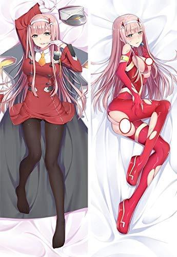 Promini Arts Darling in The Franxx Zero Two Anime - Funda de almohada (50 x 137 cm)