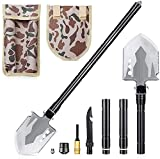 DELEE Pelle Pliante Militaire, Outil Tactique Multifonctionnel Portable, Pelle extérieure pour Le Camping,...