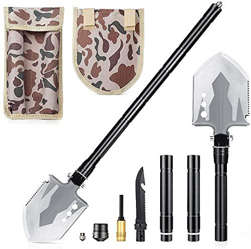 DELEE Pelle Pliante Militaire, Outil Tactique Multifonctionnel Portable, Pelle...