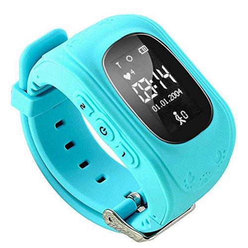 Cewaal Haihuic Bambini Intelligente Guarda Q50 Bambini SIM Wristband GPS Tracker con Mic per i Bambini Bambini