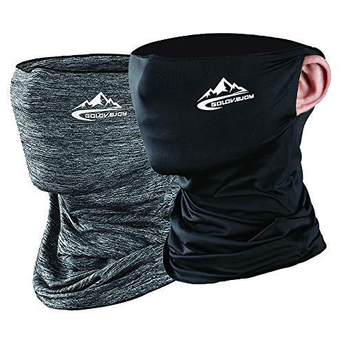Yakuin - Pañuelo para el cuello, polaina, multiusos, pasamontañas para deportes al aire última intervensión, cubierta para la cara,  2, Medium