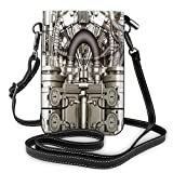 Women Small Cell Phone Purse Crossbody,Two Cylinder Engine Engineer Bikes And Cars Lovers Inspired Theme Image Photo Art