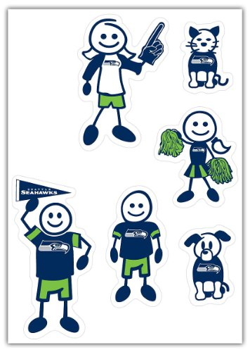 NFL Siskiyou Sports Fan Shop Seattle Seahawks Family Decal Set Small One Size Team Color