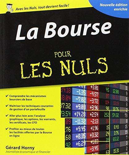 La Bourse Pour Les Nuls De Grard Horny 17 Avril 2014 Broch