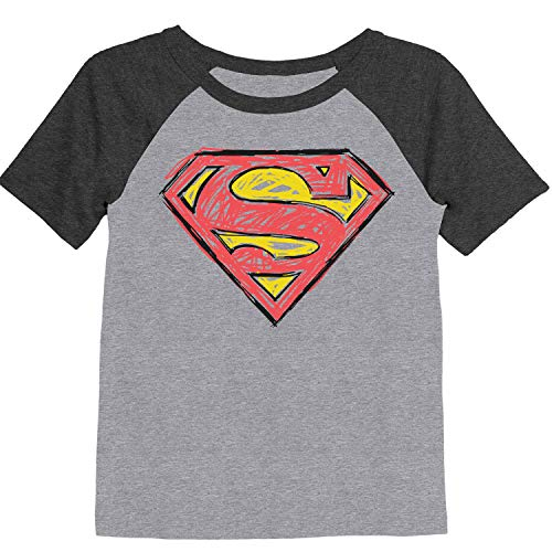 Jumping Beans Toddler Boys 2T-5T Superman Scribble Graphic Tee 3T Heather Gray