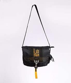 Farm Blue Messenger Bag – Officine Military Shoulder Courier Bag – Black