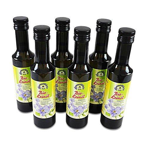 BIO Leinöl kaltgepresst 'Spreewälderin' 6er Pack (6 Flaschen à 250 ml)