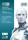 ESET NOD32 AntiVirus 2016 - 3 Computer (Frustfreie Verpackung) -