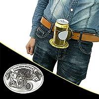 ★✈✈★【kreativ Gürtelschnalle】 Befestigen Sie die Gürtelschnalle am Gürtel. Öffnen Sie dann die Gürtelschnalle und stellen Sie Bierflaschen, Cocktailflaschen und Cola-Dosen ab. Lassen Sie Ihre Hände frei, sehr bequem und cool. ★✈✈★【Einfache Bedienung】 ...