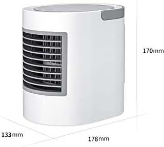 Fan Fan Mini Ventilador de Aire Acondicionado portátil, Ventilador de Escritorio USB, refrigerador silencioso USB de Oficina silenciosa, Ventilador de Aire Acondicionado portátil para el hogar