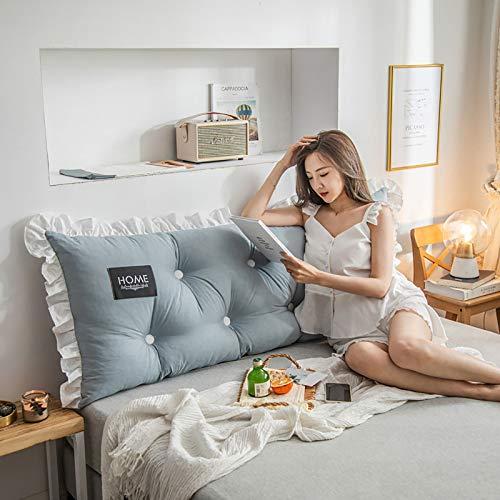 El cojín de algodón lavado de cabecera está diseñado ergonómicamente para aliviar la fatiga de la columna vertebral, apto para todo tipo de personas sedentarias, 1.200 x 55 x 15 cm