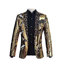 Black With Gold Sequins Jacket Blazer
