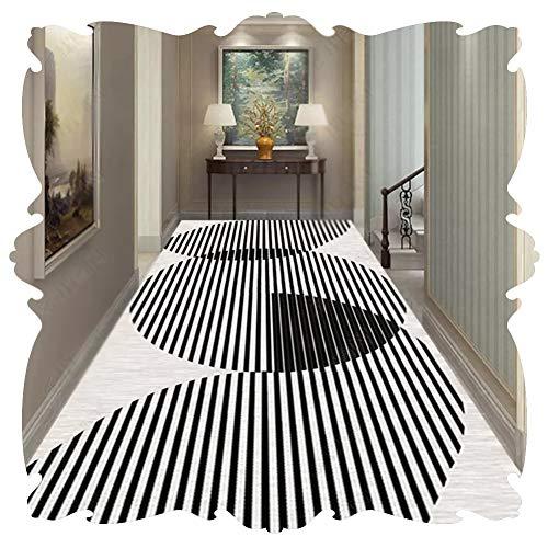 JIAJUAN Läufer Teppich Zum Lange Flur Korridor Teppichläufer Küche Halle Eintrag rutschfest Schmal Matte, 2 Arten, (Color : A, Size : 0.9x8m)