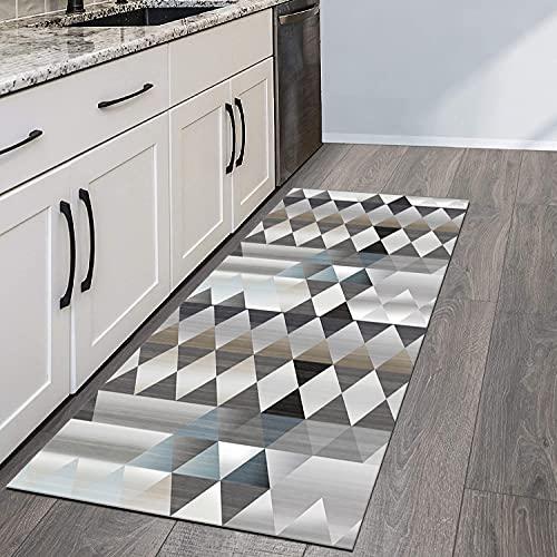 QIANGZI Alfombra para pasillo antideslizante, resistente a la suciedad para pasillo, piso de cocina, pasillo, pasillo y pasillo lavable (tamaño: 100 x 500 cm, color: A)